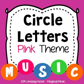 Decorative Circle Letters - Pink Theme