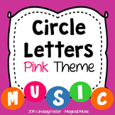 Decorative Circle Letters - Pink Theme