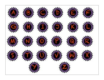 Decorative Classroom Labels Red and Purple
