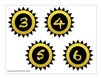 Decorative Classroom Labels Yellow and Black