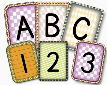 Decorative Classroom Posters Alphabet in Primary Lettering Font PDF & PNGs