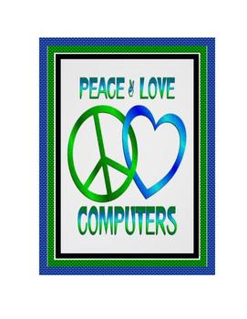 Decorative Computer Poster Set