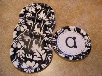 Decorative Dot Letters or Labels