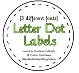 Decorative Dot Letters or Labels
