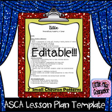 Decorative Editable Lesson Plan Template with ASCA Standar