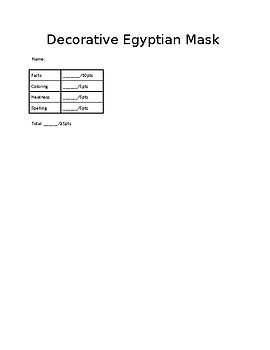Decorative Egyptian Mask