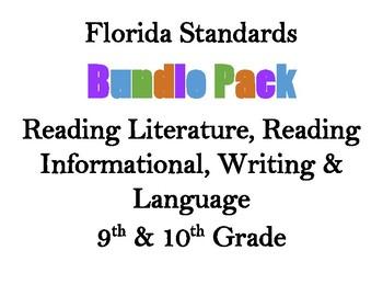 Decorative Florida Language Arts Standards Bundle (9 & 10)