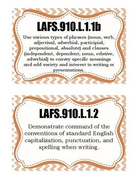 Decorative Florida Language Standards (9 & 10)