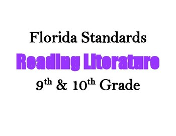 Decorative Florida Reading Literature Standards (9 & 10)