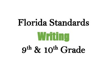 Decorative Florida Writing Standards (9 & 10)