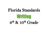 Decorative Florida Writing Standards (9 & 10)