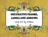 Decorative Frame Labels and Artistic Arrows