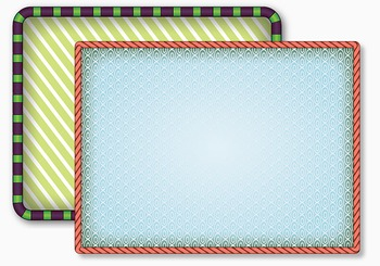 Decorative Frames For Smart Boards, Presentations or Printabes