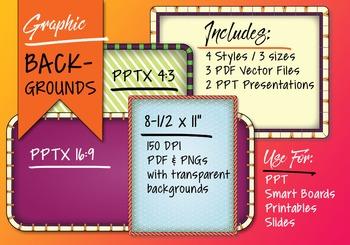 Decorative Frames For Smart Boards, Presentations or Printabes