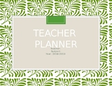 Decorative Green Planner