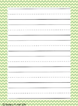 Decorative Handwriting Template Papers