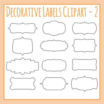 Decorative Label Border Clip Art Pack 02 for Commercial Use