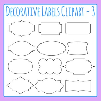 Decorative Label Border Clip Art Pack 03 for Commercial Use