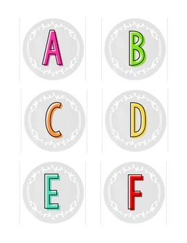 Decorative Letter Labels