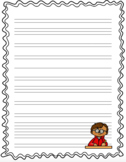 Decorative Lined Writing Paper With Borders