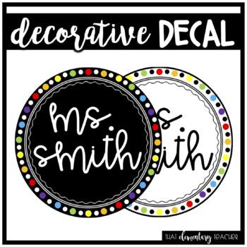 Decorative Name Decal - Editable
