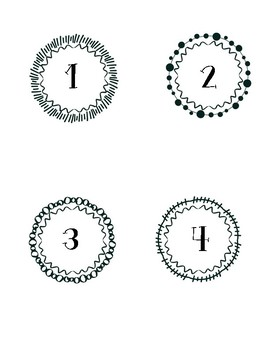 Decorative Numbers 1-8