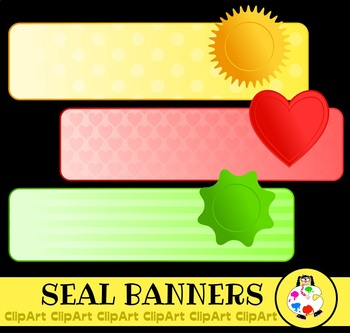 Decorative Page Banner Clip Art - Various Patterns