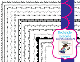 Decorative Rectangle Skinny Borders - Collection #2 (12 PN