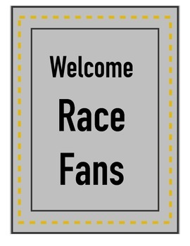Decorative Signs for Race Day