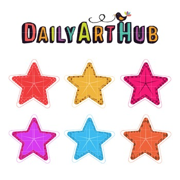 Decorative Stars Clip Art - Great for Art Class Projects!