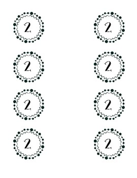 Decorative Table Numbers