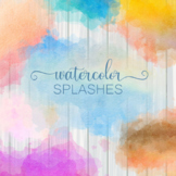 Decorative Watercolor Blots and Splashes Clipart Set
