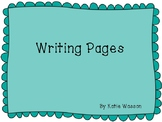 Decorative Writing Pages