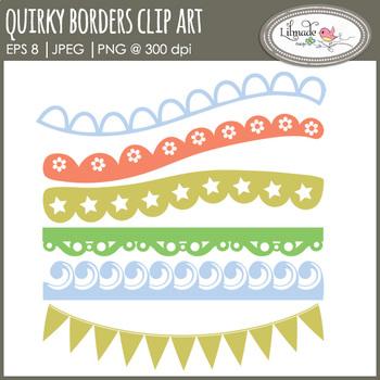 Decorative border clipart, lace border clipart, scallop border clipart