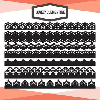 Decorative edges clip art - lace borders clipart images