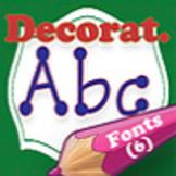 Decorative family font (6 fonts)