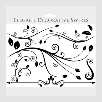decorative flourish clipart flourishes clip art swirls elegant rh teacherspayteachers com flourish clipart flourish clipart clip art swirls flourishes
