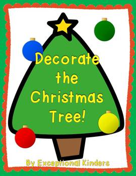Decorate the Christmas Tree! A Christmas Math Game Freebie