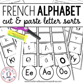 FRENCH Alphabet Letter Sorts (Trier les lettres de l'alphabet)