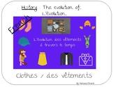 Découverte du monde : évolution des vêtements