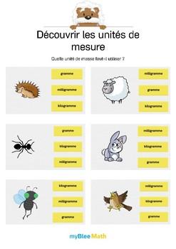 Découvrir les unités de mesure 2 -Choisir la bonne unité de masse