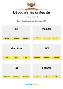 Découvrir les unités de mesure 4 -Correspondances entre unités et abréviations
