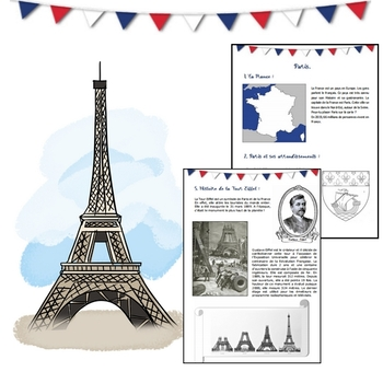 Découvrons Paris - Activities & Worksheet in French !