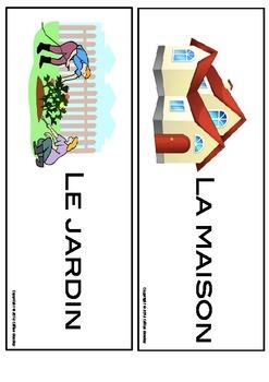Decrire sa maison : Flash cards du vocabulaire important