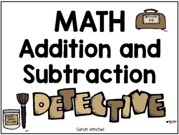 Detective Theme Math Subtration and Addition Games from 10 to 18