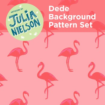 DEDE Flamingo Background Set