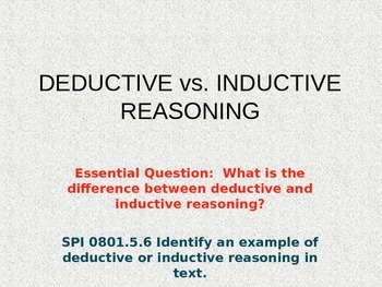 Deductive & Inductive Reasoning PowerPoint