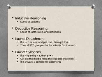 Deductive & Inductive Reasoning Review - Powerpoint