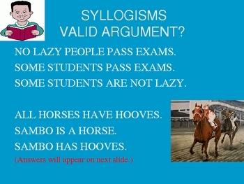 Deductive Inductive Syllogism False Premise Power Point