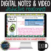 Deductive Reasoning Digital Notes; Distance Learning, Goog